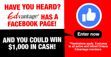 Edvantage has a Facebook page and you could win $1,000 in cash!