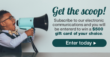 Choose the news you want to receive and you could win a $500 gift card of your choice