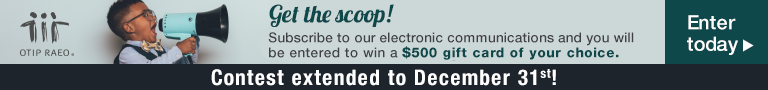 Get the scoop! Be the first to know about new contests, special offers, insurance news and more!