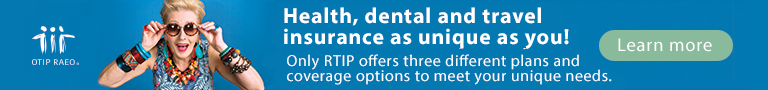 Health, dental and travel insurance for retirees.